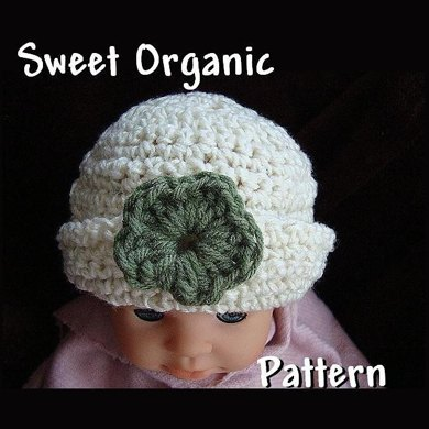 Sweet Organic Baby Hat - Crochet Pattern by Ashton11