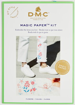 DMC Flower Magic Paper Embroidery Kit - 24cm x 16cm - FK101