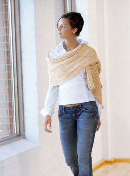 Rectangle Shawl in Blue Sky Fibers Alpaca Silk (Downloadable PDF)