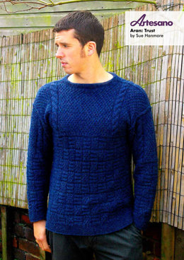 Trust Sweater in Artesano Aran