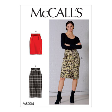 McCall's Misses' Skirt and Belt M8004 - Sewing Pattern