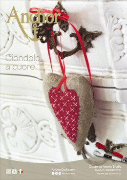 Enchanting Christmas - Hanging Heart in Anchor - Downloadable PDF