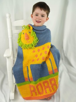 Lion Blanket in Cascade Yarns Pacific Chunky - C339 - Downloadable PDF