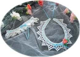 Knitted Wedding Horseshoe and Garter