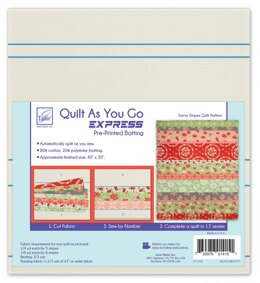 June Tailor Inc Quilt As You Go Express - Savvy Stripes Quilt