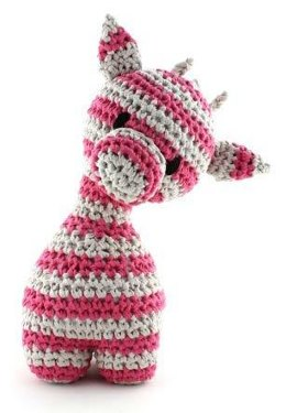 Giraffe Ziggy Striped Toy in Hoooked RibbonXL