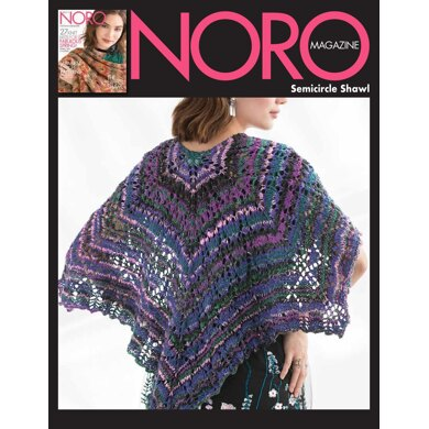 Semicircle Shawl in Noro Nishiki - 14855 - Downloadable PDF