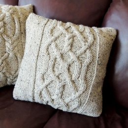 Twists and Cables Cushion Cover