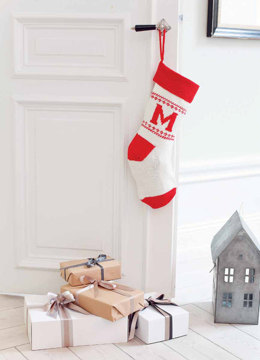 Namn Christmas Stocking in MillaMia Naturally Soft Merino - Downloadable PDF
