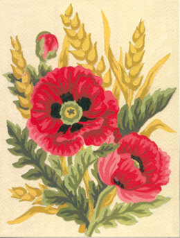 Collection D'Art Poppies & Wheat Tapestry Kit - 14 x 18 cm