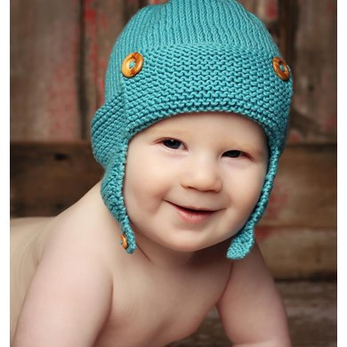 Wright Flyer Baby Aviator Hat Knitting Pattern By Julie Taylor