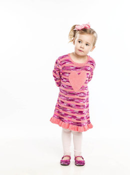 Big Heart Dress in Universal Yarn Bamboo Pop