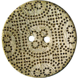 Dotted Coconut 51mm 2-Hole Button