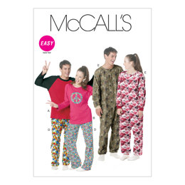 McCall's Misses'/Men's/Teen Boys' Tops, Pants And Jumpsuit M6251 - Sewing Pattern