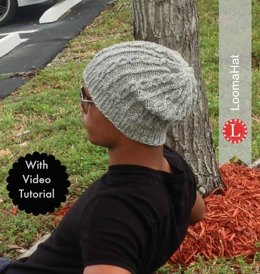 Loom Knitting Pattern Chain Links Slouchy Hat