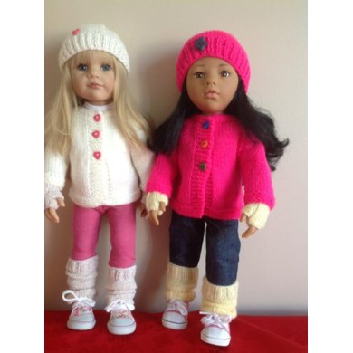 Cosy Cardigan And Accessories For 18 Quot Dolls Knitting