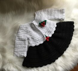 Baby Dress & Cardigan Set N 339