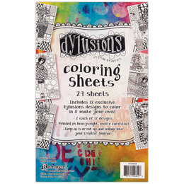"Ranger Dyan Reaveley's Dylusions Coloring Sheets 5""X8"" - 2 Each Of 12 Designs"