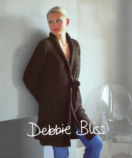 Side Tied Coat in Debbie Bliss Cashmerino Astrakhan