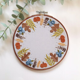 Harvest Wreath Embroidery Pattern