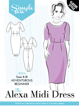 Simple Sew Patterns The Alexa Midi Dress #004 - Sewing Pattern