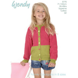 Family Cardigan in Wendy Supreme Cotton DK - 5778