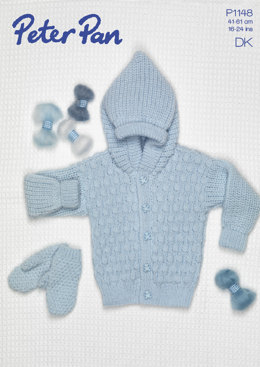Acorn Stitch Jacket and Mitts in Peter Pan DK 50g - 1148