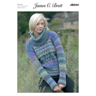 Sweater in James C. Brett Marble Chunky - JB024