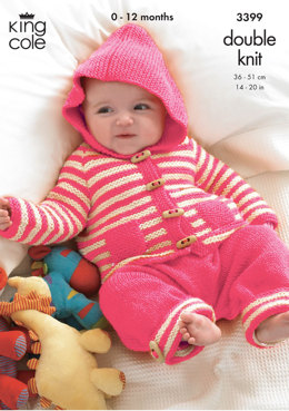 Baby Set in King Cole DK - 3399