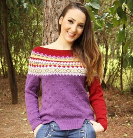Sassy jumper fair isle yoke