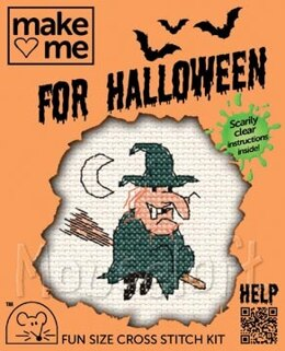 Mouseloft Make Me for Halloween - Witch Cross Stitch Kit