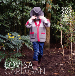 Boys' Lovisa Cardigan in MillaMia Merino Wool