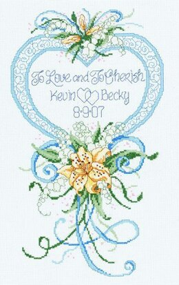 Janlynn Corporation Cherished Wedding Cross Stitch Kit - 23cm x 38cm