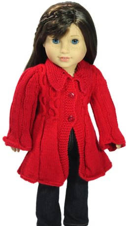 Cable Flair Coat for 18 inch Dolls