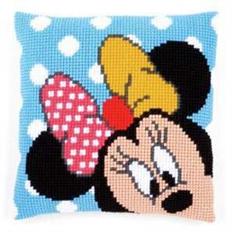 Vervaco Minnie Peek-A-Boo Cross Stitch Kit Cushion