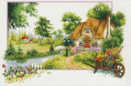 Needleart World Summer Cottage No-Count Cross Stitch Kit - 46cm x 31cm