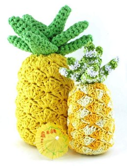 Funky Pineapple Decor in Hoooked RibbonXL - Downloadable PDF