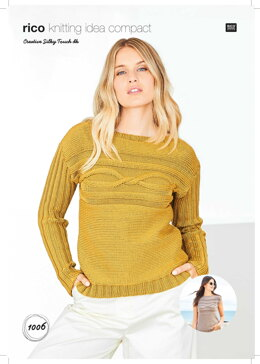 Sweater and Top in Rico Creative Silky Touch DK - 1006 - Downloadable PDF