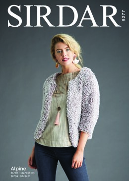 Woman's Cropped Cardigan in Sirdar Alpine - 8277 - Downloadable PDF