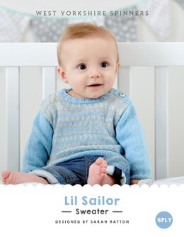Lil Sailor Sweater in West Yorkshire Spinners Bo Peep 4 Ply - DBP0018 - Downloadable PDF