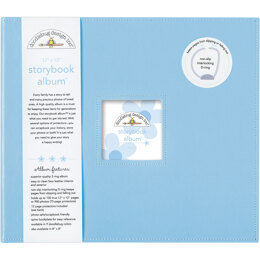 "Doodlebug Storybook D-Ring Album 12""X12"" - Bubble Blue"