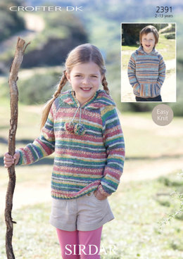 Jumpers with and without a hoodie in Sirdar Crofter DK - 2391