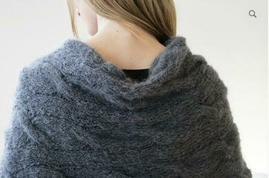 Cable Mohair Poncho
