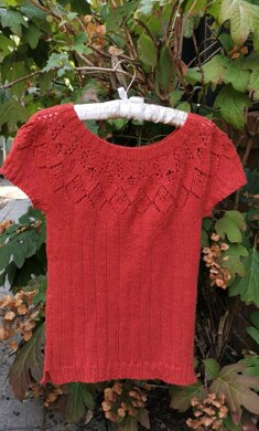 Knitting Sunset Top Down Sweater