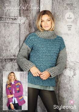 Women Jumpers in Stylecraft Special XL Tweed - 9809 - Downloadable PDF