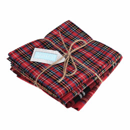 Trimits Tartan Fat Quarter Bundle - Red