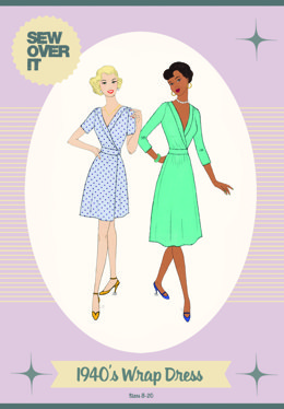 Sew Over It 1940's Wrap Dress - Sewing Pattern