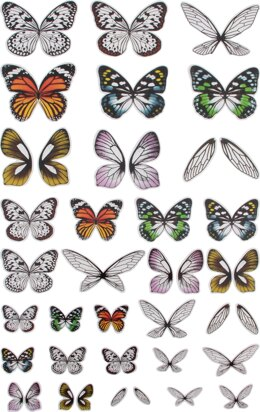 Advantus Idea-Ology Transparent Acetate Wings 72/Pkg - 563982