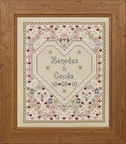 Historical Sampler Company Confetti Wedding Sampler Cross Stitch Kit