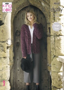 Ladies' Jacket and Cardigan in King Cole Indulge Chunky - 4858